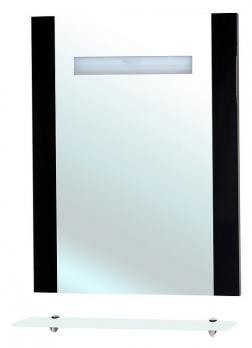 Зеркало с полкой и подсветкой Берта 60 чёрное