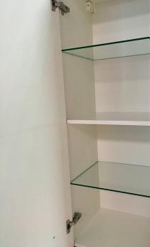 Шкаф пенал Берта 40 подвесной белый
