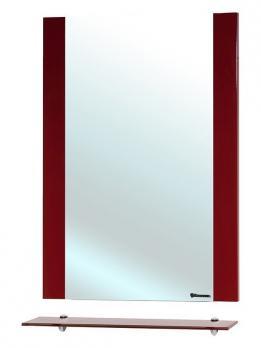 Рокко-60 зеркало с полкой красное