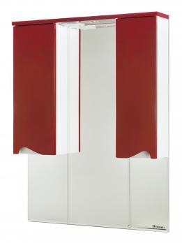 Зеркало-шкаф Эйфория 100 красное