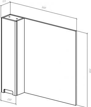 Зеркало-шкаф Bellezza Пегас 90 L черный