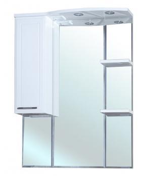 Зеркало шкаф Коралл 85 L белый