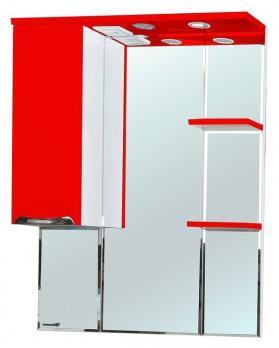 Зеркало-шкаф Bellezza Альфа 75 L красный