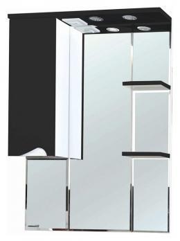 Зеркало-шкаф Эйфория 80 L чёрный