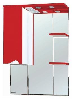 Зеркало-шкаф Эйфория 80 L красный