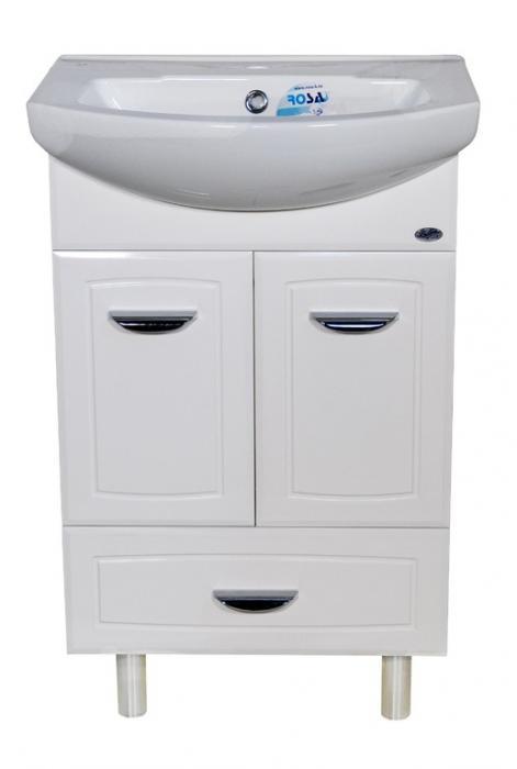 Тумба с раковиной Классик 55 белая с нижним ящиком