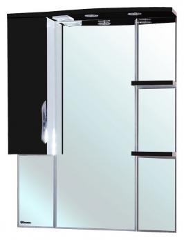 Зеркало-шкаф Bellezza Лагуна 85L черная