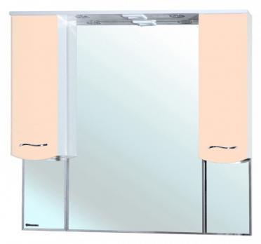 Зеркало-шкаф Bellezza Мари 105 белое/бежевое