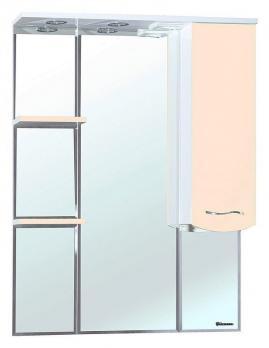 Зеркало-шкаф Bellezza Мари 85 R белое/бежевое
