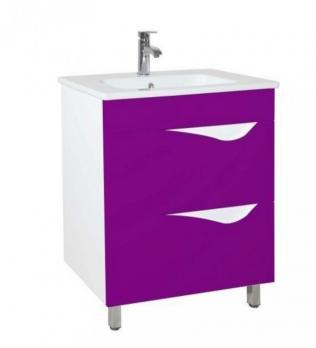 Тумба с раковиной Эйфория 60 фиолетовая