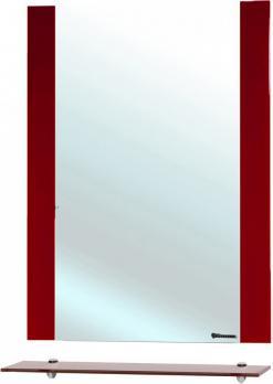Зеркало с полкой Рокко 80 красное